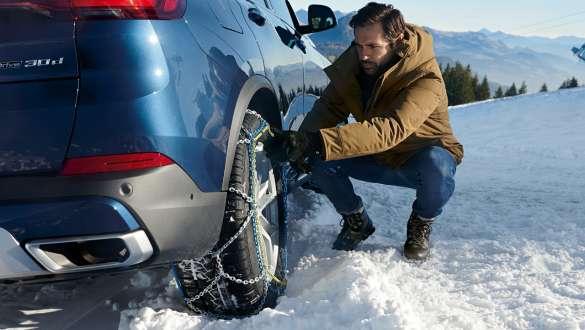 Lanţuri de zăpadă BMW.